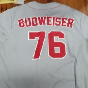 Budweiser Shirts - Budweiser 76 Grey Jersey